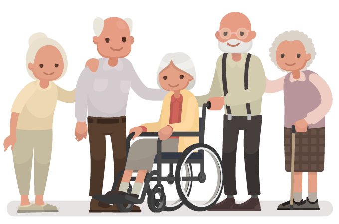 elderly aged care facility residents